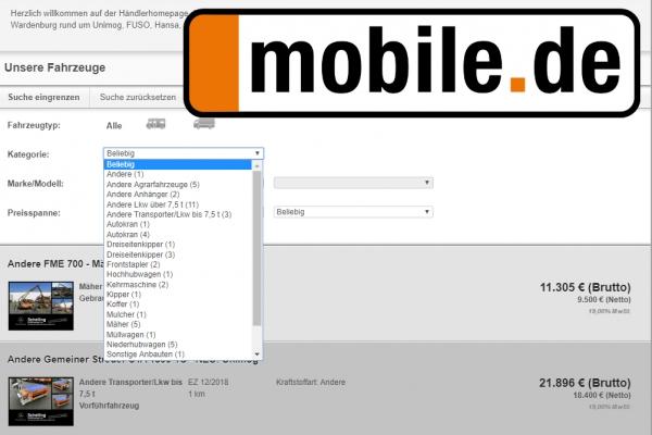 Gebraucht bei mobile.de